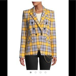 Veronica Beard Miller Dickey Jacket Yellow Plaid 4